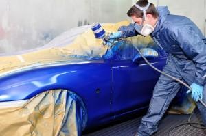 Покраска одной детали автомобиля