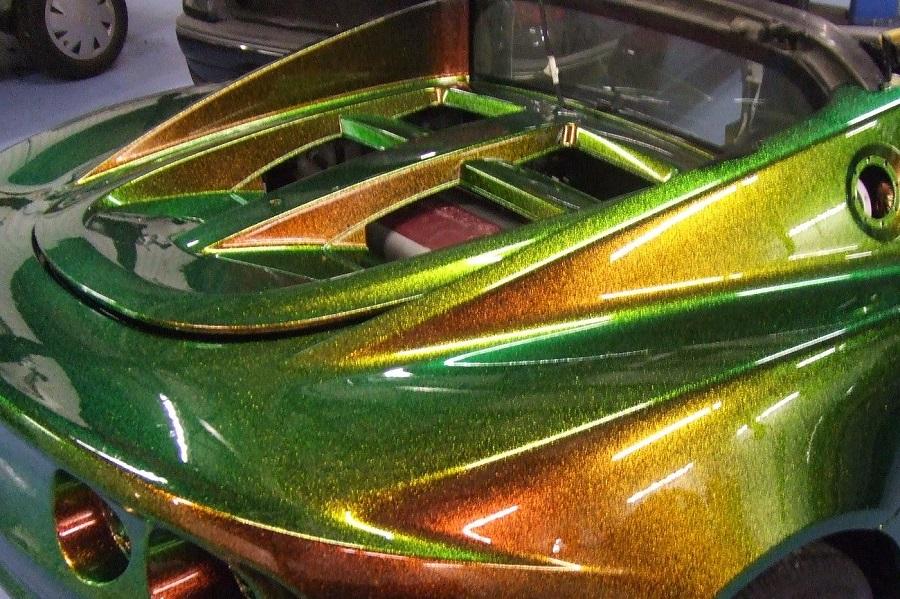 Покраска автомобиля металликом