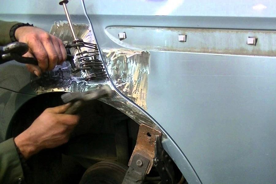 Кузовной ремонт крыла своими руками