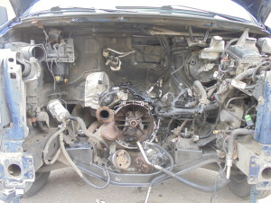 Двигатель снят.